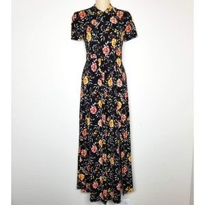Asos Asian Inspired Long Floral Maxi Dress NEW